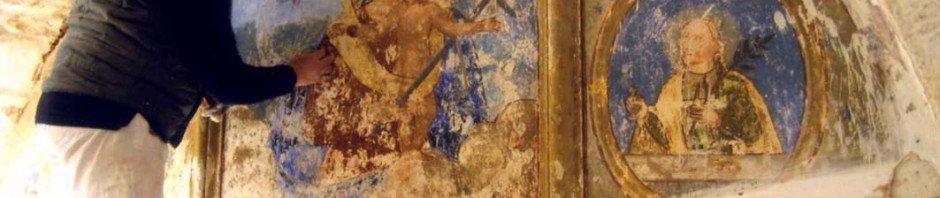 Restauro dell'antico affresco della Madonna della Croce